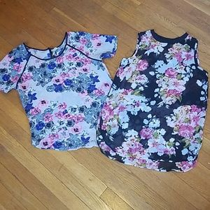 2 sheer blouses